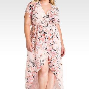Floral plus size maxi dress